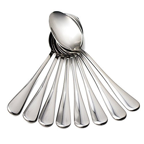 OriDecor Stainless Steel Oval Table Spoons, Public Serving Soup Spoons