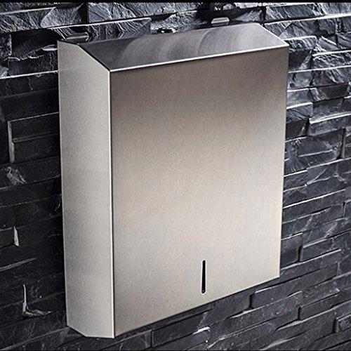 ZHAOJING 304 Edelstahl Tissue Box Gebürstetes Badezimmer Öffentliches WC Toilette Restaurant Wandmontiertes Hotel Wiping Hand Handtuch Box