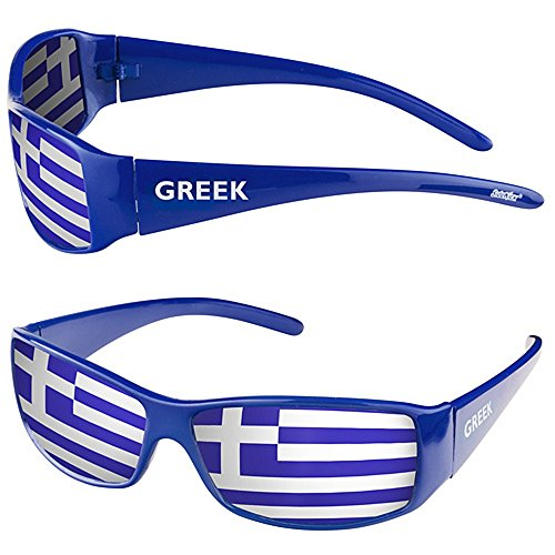 Taffstyle® Fanartikel Sonnenbrille Fan Brille zur Fussball Weltmeisterschaft WM & EM Europameisterschaft 2016 Länder Flagge Style - Griechenland