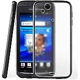 Funda protectora OneFlow para funda Sony Ericsson Xperia Arc S Carcasa silicona TPU 1,5mm | Accesorios cubierta protección móvil | Funda móvil paragolpes bolso traslúcida transparente en Deep-Black
