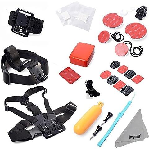 Deyard ZG-646Set accessori Kit di montaggio per GoPro HD Hero Serie, colore: rosa
