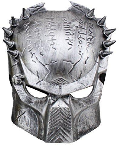 (Inception Pro Infinite Maske - Karneval - Halloween - Alien Vs Predator - Silberfarbe - Mann - Frau)