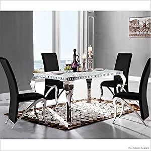 Table de salle manger design luxe venus 220 x 100 x 76 for Table de salle a manger luxe