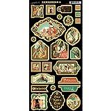 Graphic 45Forêt Enchantée Chipboard Die-Cuts 15cm sheet-decorative, Autres, multicolore 30,5x 30,5cm