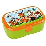 Lunchbox Waldtiere mit herausnehmbaren Obst und Gemüsefach