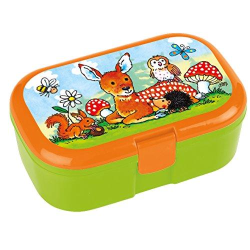 Lunchbox Waldtiere mit herausnehmbaren Obst und Gemüsefach -
