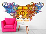 Vinilo Decorativo Pared Mandala Furgoneta Hippie Style | Varias Medidas 160x78cm |...