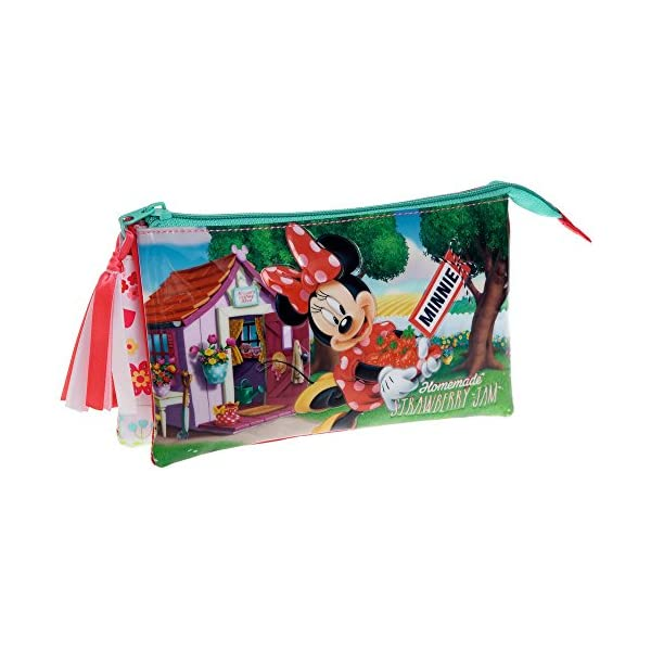 Disney Minnie Strawberry Neceser de Viaje, 1.32 litros, Color Rosa