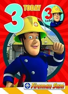 Fireman Sam FS003 Carte d'anniversaire 3ans