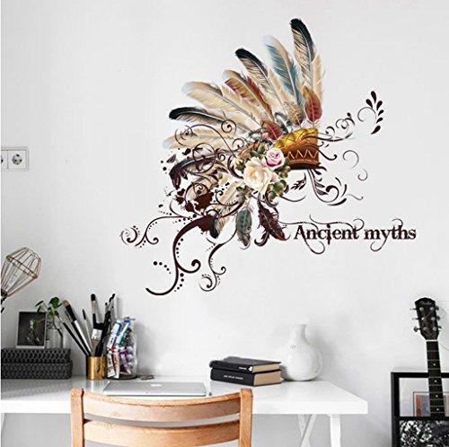 Aoligei Cap Feature ethnischen kreativen Wohnzimmer Schlafzimmer Dekoration Wandaufkleber