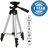 Drumstone 3110 Portable Camera Tripod With Three-dimensional Head & Quick Release Plate Compatible With Xiaomi, Lenovo, Apple, Samsung, Sony, Oppo, Gionee, Vivo Smartphones (One Year Warranty)