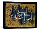 Gerahmtes Bild von Paul Klee Gerüst eines Neubaues. Nr.1, Kunstdruck im hochwertigen handgefertigten Bilder-Rahmen, 60x40 cm, Schwarz matt