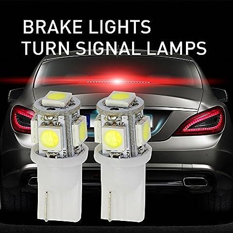 Mihaz 2X 501 W5W Bombillas LED Blanco 5-SMD 5050 Alta Potencia 168 194 2825 T10 LED Interior del coche Placa Bombillas de arranque