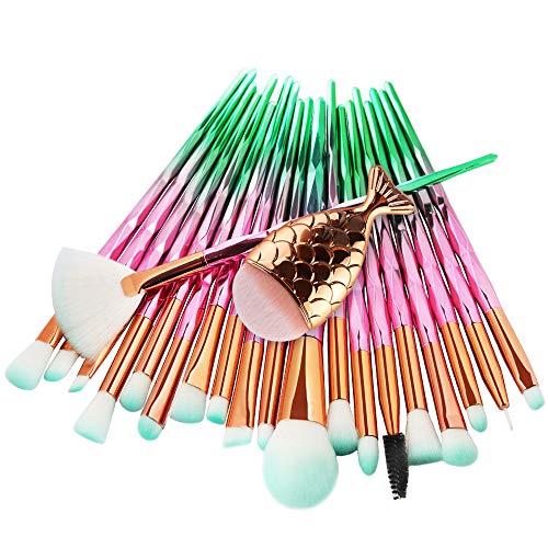 POachers Pinceau de Maquillage Professionnel 21 Pièces Brosse de Maquillage Professionnel Synthétique Fusion de fond de teint Concealer Eye Visage Liquide Poudre Crème Cosmétique Pinceaux