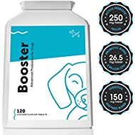 Probiotic & Prebiotic for Dogs & Puppies with Sensitive Stomachs (120 Tablets) Diarrhoea, IBS, Gas; Digestive Enzymes to Boost Digestive & Immune Health; 2 Billion CFUs per Tablet; UK Made