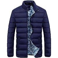 chaquetas hombre Sannysis Chándal Para Hombre abrigos invierno largos de color Parka (azul, XL)