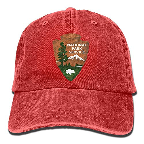 Hoswee Unisex Kappe/Baseballkappe, Great Smoky Mountains National Park Denim Baseball Cap Adjustable Strap Low Profile Plain Hats Outdoor Casquette Adjustable Sunbonnet Black -