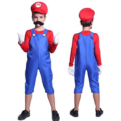 Imagen de cle de tous  disfraz de mario bros para niño cosplay dress fiesta carnaval halloween talla s 90 100cm talla m 110 120cm  m 110 120cm  alternativa