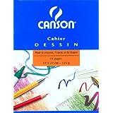 Canson - Cahier à dessin 17x22 - 16 pages - uni