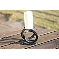 Horseshoe Candle Holder (complete with candle)