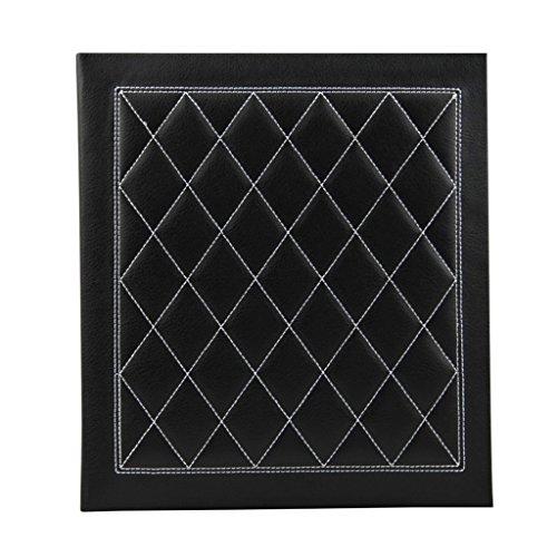 FOOHAO- Album photo noir de grille de broderie, collection de photo d'insertion molle d'unité centrale, pour adapter 160 photos - (17.8CM * 12.7CM (5R)) (Couleur : Black inside pages)