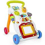 مشاية متعددة الوظائف للاطفال عربة اطفال مضادة للانقلاب حامل تعليمي مزود بموسيقى