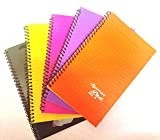 #5: Pack of 10 Spiral Pad Medium Size 14 x 21 - A5 Size - 80 Pages/40 sheets