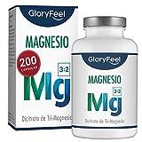 GloryFeel Citrato de Magnesio - Suplemento de 2400mg de citrato de magnesio/360mg...