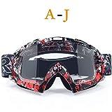 DFGDH Motorrad Schutzbrille Motocross-Brillen Brillen Radsport Offroad Helme Ski Sport Dirt Bike Racing Brillen