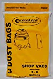 Envirocare Wet Dry Vac Sacs Compatible avec 5, 6, 7, 9 Gallon Machines