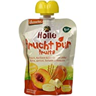 Holle Gourde Pêche Abricot Banane Epeautre 90 g BIO