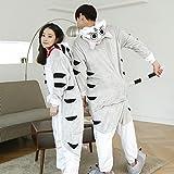 CWJ Unisex Adult Pyjamas - Plüsch One Piece Cosplay Tier Kostüm Winter Verdickung Freizeitbekleidung,Katze,S