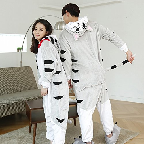 Unisex Adult Pyjamas - Plüsch One Piece Cosplay Tier Kostüm Winter Verdickung (Hund Kostüme Erwachsener)