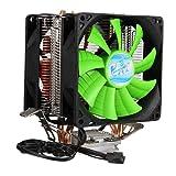 Yongse 3 Pin Dual Fan CPU raffreddatore dissipatore di Calore per Intel LGA775/1150/1155 AMD AM2/AM2+/AM3
