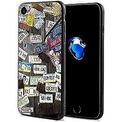 Gustave Tomlinson Nummernschild ultradünne stoßfeste rutschfeste Anti-Schutzhülle für das iPhone 7/8