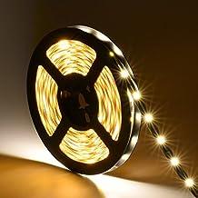 Oakleaf 5 m Tira LED con 300 ledes (SMD2835), 12 V dc Blanco Cálido Barra de luz 3000K luz cadena, no impermeable LED Banda