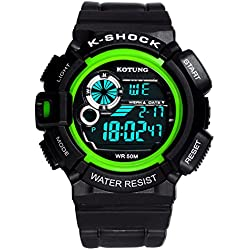 Mens waterproof digital watches/Multifunctional outdoor sports watches/Casual fashion watches-C