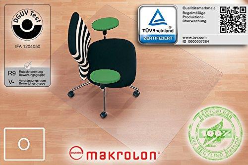 Transparente Bodenschutzmatte, 110 x 120 cm, aus Makrolon, Schutzmatte für Parkett-, Laminat- & PVC-Böden, 17 weitere Größen und...