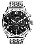 s.Oliver Time Herren Chronograph Quarz Uhr mit Edelstahl Armband SO-3343-MC