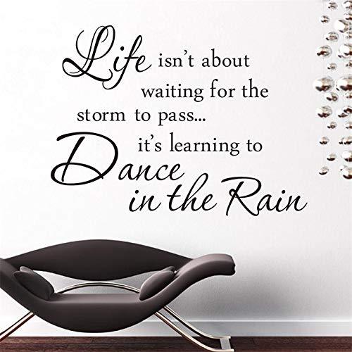 (Wandaufkleber Kinder Zimmer Inspiration Zitat Leben Ist Tanz Im Regen Sprüche Wohnkultur Wandaufkleber Berühmte Warme Wandkunst Zum Abziehbild Buchen Zimmer Klassenzimmer)