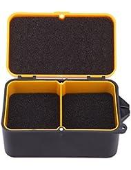 Eflio (TM) 10 * 6 * 3.2cm cebos de pesca Caja de la lombriz de tierra del gusano del se?uelo de almacenamiento caja de m¨²ltiples funciones caja de pesca