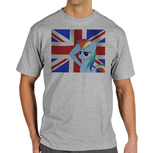 SWAG Britain Unicorn Background Herren T-Shirt Grau