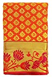 SARAVANABAVA SILKS Women's Kanchipuram Silk Saree(SRBS000516_Mango Yellow_Free Size)