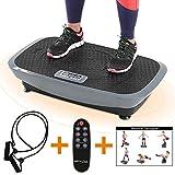 Vibrationsplatte aktiv Premium 3D Vibrationsgerät Vibrationstrainer inkl. Expanderbändern + Fernbedienung + Trainingsplan