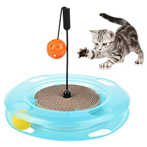Petacc Rascador para Gato Cama Rascador para Gato de Carton Reciclado Corrugado Cama para Gato para Interior Juguete de Gato Amarillo