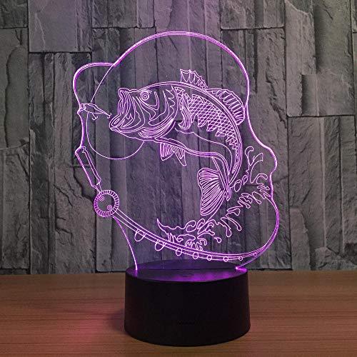 3d angeln lichter 7 farben ändern led schreibtisch lichter mode 3d visuelle atmosphäre lampe neujahr geburtstagsgeschenk schlafzimmer tischlampe -