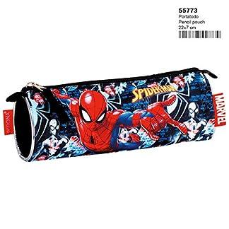 Spiderman- Estuche Portatodo,, 22 centímetros (Montichelvo 55773)