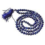 Echte Lapislazuli Jaap Mala 108 Perlenstickerei für Hals Kehlen & drittes Auge Chakra - natürliche...