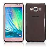 TBOC® Funda de Gel TPU Negra para Samsung Galaxy A3 A300 FU de Silicona Ultrafina y Flexible