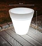 Outdoorleuchte Shining Pot konisch 48 cm (weiß) - 5